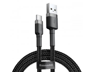 Baseus CAFULE TYPE-C CABLE 200CM GREY/BLACK