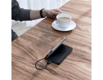 Baseus S10 power bank 10000MAH & WIRELESS CHARGER czarny