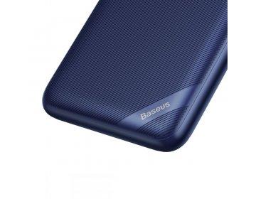 Baseus S10 power bank 10000MAH & WIRELESS CHARGER niebieski