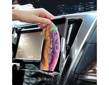 Hoco S14 CAR WIRELESS CHARGING HOLDER srebrny