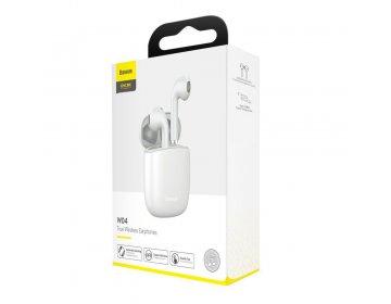 Baseus W04 TWS WIRELESS EARPHONE biały