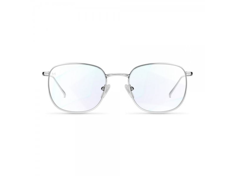 Okulary Z FILTREM niebieski LIGHT do KOMPUTERA MELLER MAIO srebrny