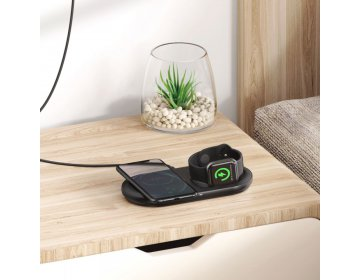 Baseus PLANET 2IN1 WIRELESS CHARGER czarny