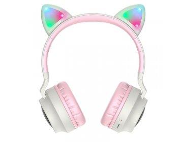 Hoco W27 CAT EAR WIRELESS HEADPHONE szary