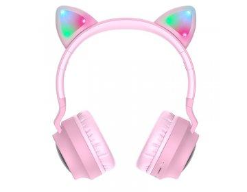 Hoco W27 CAT EAR WIRELESS HEADPHONE różowy