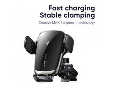 Joyroom JR-ZS248 VENT CAR MOUNT WIRELESS CHARGER czarny