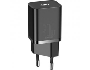 Baseus SUPER SI NETWORK CHARGER PD20W + LIGHTNING CABLE czarny