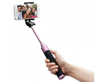 Spigen S530W WIRELESS SELFIE STICK różowy