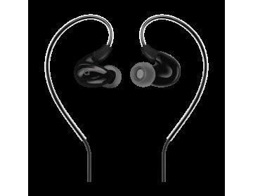 Acme EUROPE Słuchawki sportowe przewodowe douszne z mikrofonem HE23 czarne