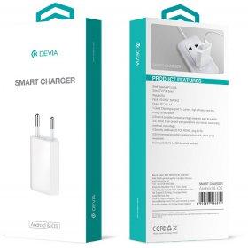 Devia ładowarka sieciowa Smart 1x USB 1A biały