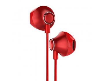 Baseus słuchawki przewodowe Encok H06 czerwone