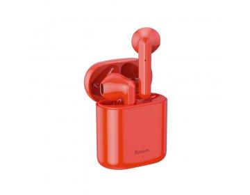 Baseus słuchawki bluetooth TWS W09 czerwone