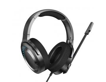 Baseus słuchawki przewodowe GAMO Virtual 3D nauszne czarne