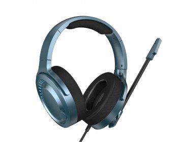 Baseus słuchawki przewodowe GAMO Virtual 3D nauszne niebieskie