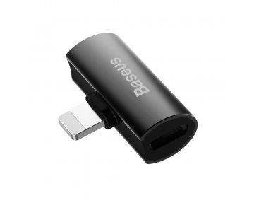 Baseus adapter L46 8-pin do 2x8-pin czarny