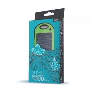 Setty power bank solarny 5000 mAh zielony
