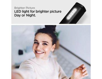Uchwyt selfie SPIGEN S550W Led Selfie Stick Midnight czarny