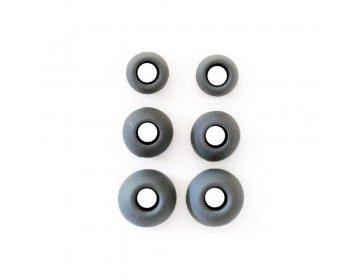 Gumki do Słuchawek Dousznych 3 rozmiary w komplecie czarny