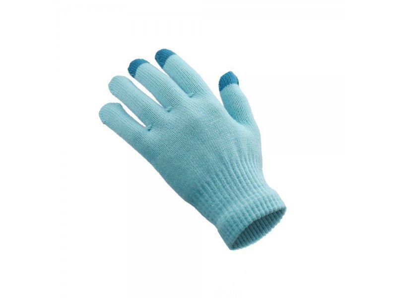 Rękawiczki do ekranów dotykowych GLOVES niebieski damska 18x11 cm