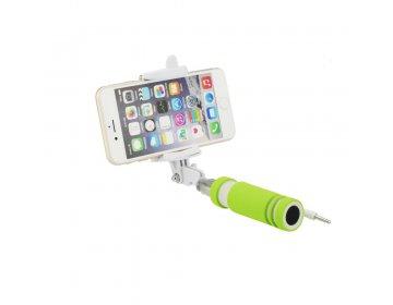 Zestaw/uchwyt mini do selfie Blun zielony przewód 3,5mm Jack