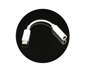 Adapter HF/audio do iPhone Lightning 8-pin Jack 3,5mm BOX w pudełku, żeński