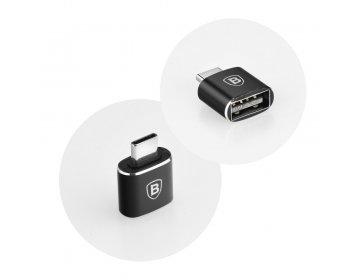 Baseus adapter OTG USB do Typ-C 2,4A czarny CATOTG-01