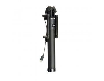 Zestaw/uchwyt do selfie z pilotem w rączce pasuje do iPhone Lightning 8-pin czarny