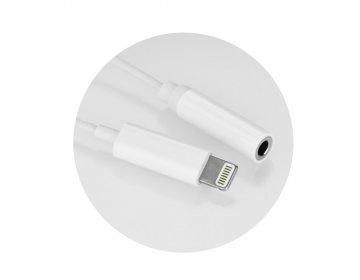 Adapter HF/audio do iPhone Lightning 8-pin Jack 3,5mm czarny żeński