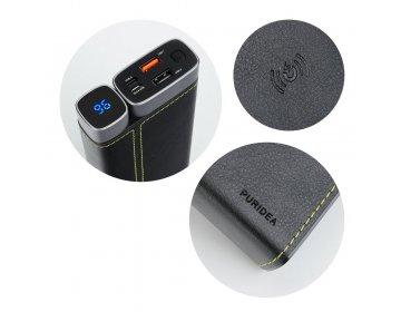 Bateria zewnętrzna POWER BANK PURIDEA ProX 15 000 mAh ładowanie indykcyjne czarny + Power Delivery Power Delivery
