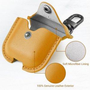 Futerał ESR Oxford Leather do Airpods Case brązowy
