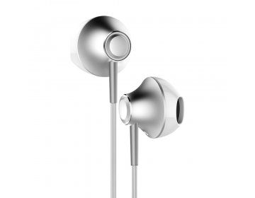 Baseus zestaw słuchawkowy/słuchawki Encok Wire H06 srebrne NGH06-0S