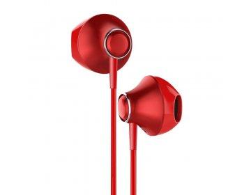 Baseus zestaw słuchawkowy/słuchawki Encok Wire H06 czerwony NGH06-09