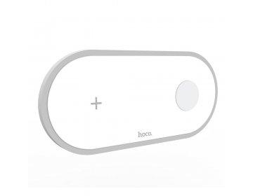 Hoco ładowarka bezprzewodowa/indukcyjna Qi 2w1 mobile + watch 2A 10W CW20 biały