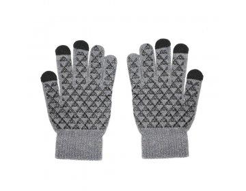 Rękawiczki do ekranów dotykowych TRAINGLE szara męska