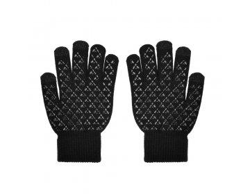 Rękawiczki do ekranów dotykowych TRAINGLE czarny męska