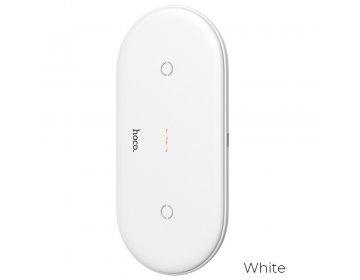 Hoco ładowarka indukcyjna na dwa urządzenia Qi 10W CW23 biały