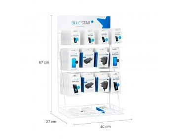 Stojak niebieski Star na akcesoria GSM