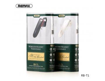 Remax RB-T1 zestaw słuchawkowy bezprzewodowa słuchawka bluetooth 5.0 biały