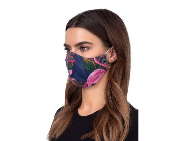 Maska na twarz   profilowana wzór flaming