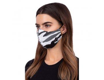 Maska na twarz   profilowana wzór moro szary