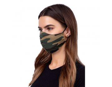 Maska na twarz   profilowana wzór moro zielony