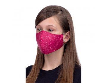 Maska na twarz   profilowana dla dzieci 8-12 lat wzór gwiazdki