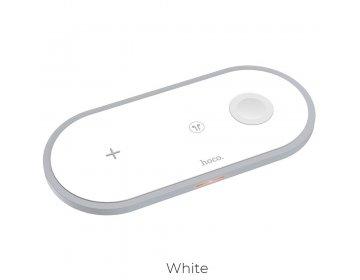 Hoco ładowarka indukcyjna Qi 3w1 telefon + zegarek + airpods 2A 10W CW24 biały