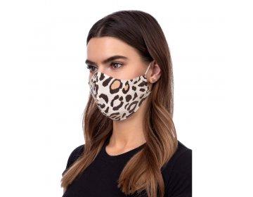 Maska na twarz   profilowana wzór panterka