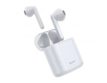 Baseus zestaw słuchawkowy/słuchawki bluetooth TWS Encok True W09 białe NGW09-02