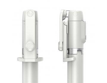 Remax zestaw/uchwyt do selfie tripod + pilot bezprzewodowy Remax Life RL-EP03 biały