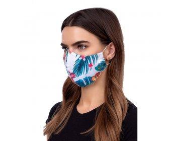 Maska na twarz   profilowana wzór kwiaty