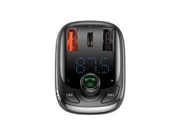 Baseus Transmiter FM bluetooth MP3 z ładowarką samochodową + 2 x USB 5A QC CCTM-B01