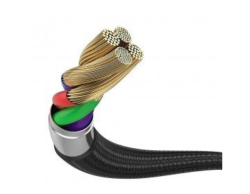 Baseus kabel USB 4w1 + ładowarka indukcyjna Qi do Apple Watch szary 1,2m Typ C + micro + Lightning 8-pin CA1T4-I0G