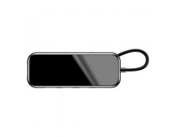 Baseus HUB adapter przejściówka Typ C na USB3.0 + 3x USB2.0 + micro USB do MacBook/PC szary CAHUB-G01